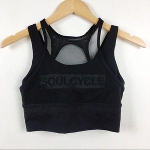 Lululemon x Soulcylce Black Mesh Sports Bra